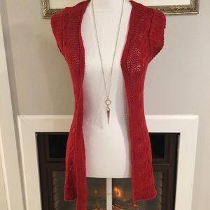 Maurice's Red Cardigan